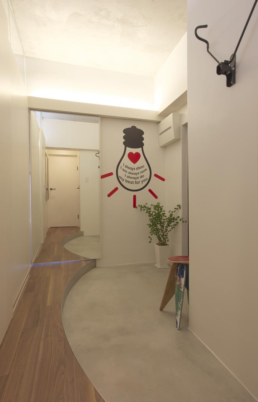水回りとWICを1か所にまとめて LDKをゆったりとの部屋 玄関
