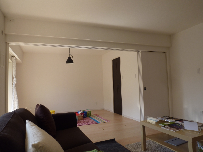 千葉邸の部屋 和室をフローリングにしたリビング