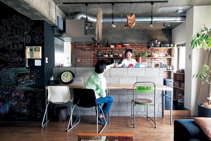リフォーム・リノベーション会社:エイトデザイン株式会社「イメージはブルックリンのアパート。 大好きな中古家具が似合う空間に」