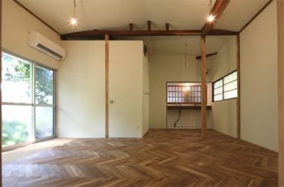 浅間台の平屋 (ダイニングキッチン)