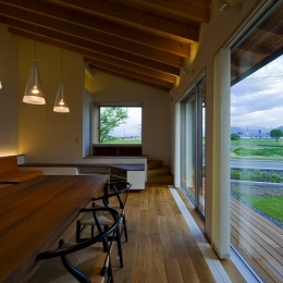 窓辺の家 -window scape- (リビング・ダイニング)