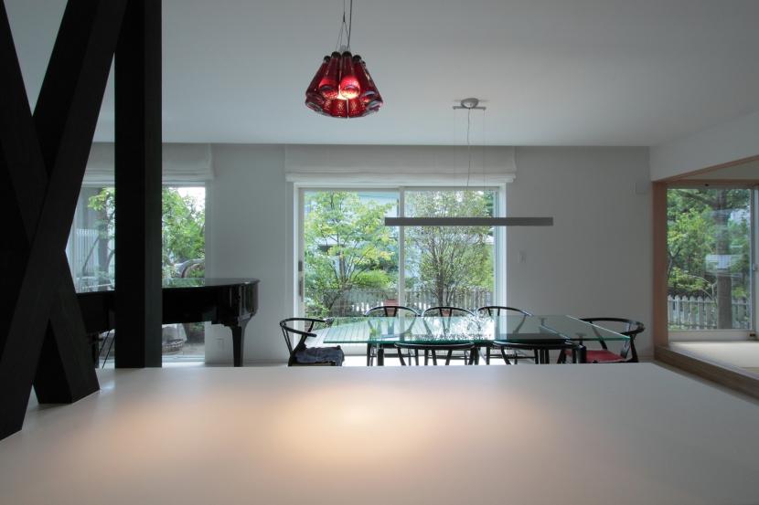 長野上松の家 -spazio unico- (ダイニング・キッチン)