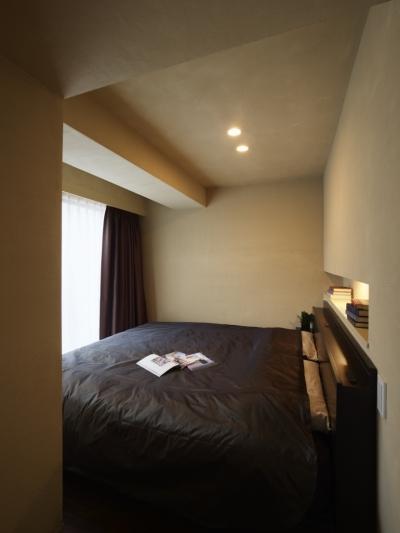 寝室 (どこにいても空が見える ワンルームのようなLDK)
