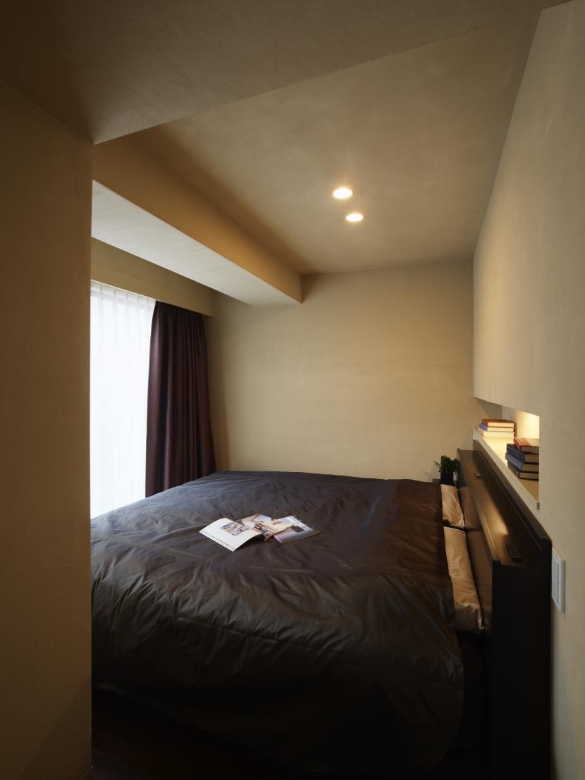 どこにいても空が見える ワンルームのようなLDKの部屋 寝室