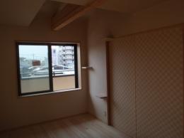姫島の家=分離発注+高気密高断熱+スケルトンインフィル (寝室)