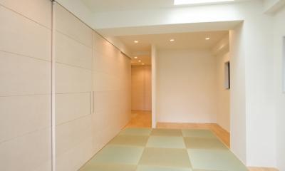 MK邸 リノベーションでつくる知恵の空間 (タタミの広間のようなリビング)
