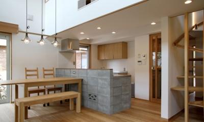 ナツミカンの木と家 (キッチン)