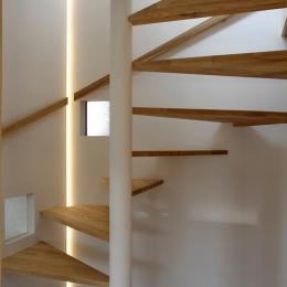 ナツミカンの木と家 (螺旋階段)