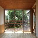 ナツミカンの木と家の写真 ベッドルーム