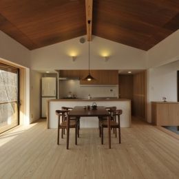 那須の山門-開放的なダイニングキッチン