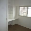 空間をうまく利用した寝室