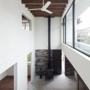 彩ちゃんの家〜大きな吹き抜けサロンのあるバリアフリー対応住宅【大阪市】の写真 サロン