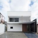 彩ちゃんの家〜大きな吹き抜けサロンのあるバリアフリー対応住宅【大阪市】の写真 外観