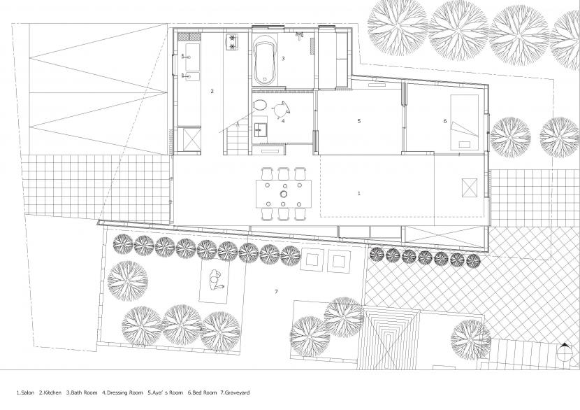 彩ちゃんの家〜大きな吹き抜けサロンのあるバリアフリー対応住宅【大阪市】 (平面図)