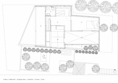 平面図 (彩ちゃんの家〜大きな吹き抜けサロンのあるバリアフリー対応住宅【大阪市】)