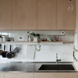 シンプルな製作キッチン