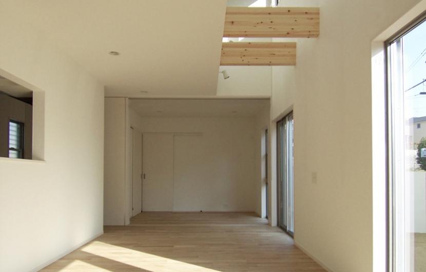 函の家の部屋 建具で2室に分割可能な大きいLDK
