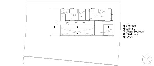函の家の部屋 2階平面図