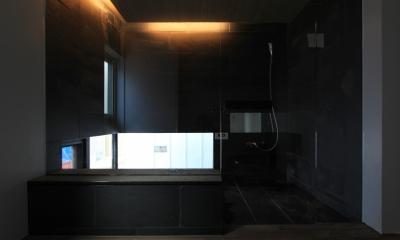 「BOX+庭+BOX」 (造作風呂)