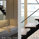 「BOX+庭+BOX」の写真 洗面・階段