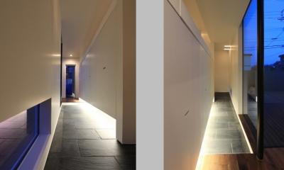 「BOX+庭+BOX」 (玄関ホール)