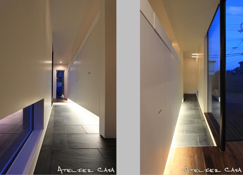 「BOX+庭+BOX」の部屋 玄関ホール