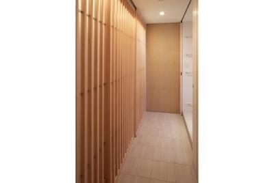 格子建具 (TM邸 和モダンを基調とした2世帯リノベーション)