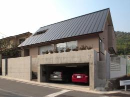 長岡京の家 (道路側外観)