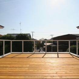 風景が広がる屋上デッキテラス