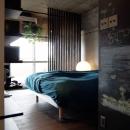 オープンな寝室