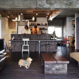 マンションリノベーション|名古屋市千種区F邸 (DJブースみたいなキッチン)