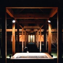 軽井沢の家2 (あずまや、バーベキューコーナー)