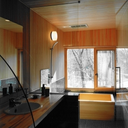 軽井沢の家4 (洗面、浴室)