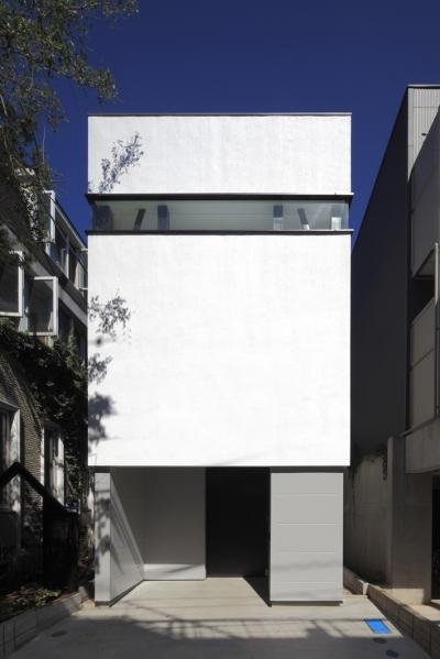 ハコノオウチ01・住宅密集地での箱型住宅 (デザイン住宅外観いろいろ)