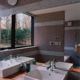 軽井沢の家5 (洗面、浴室)