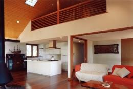 軽井沢の家6 (ダイニング、キッチン、屋根裏)