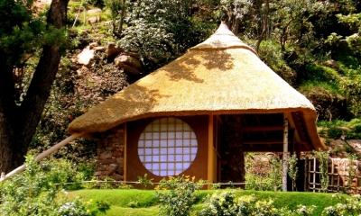 南アフリカの茶室 (外観)