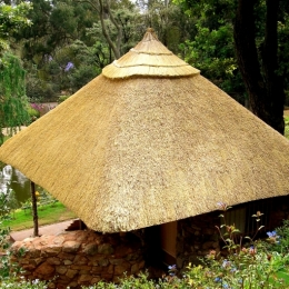 南アフリカの茶室 (茅葺屋根)