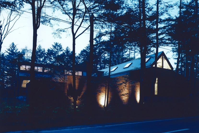 軽井沢の家7の写真 外観ー夜景