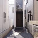 デザイン住宅外観いろいろの写真 H×4 旗竿敷地の家