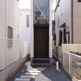 デザイン住宅外観いろいろ (H×4 旗竿敷地の家)