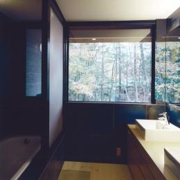 軽井沢の家8 (洗面)