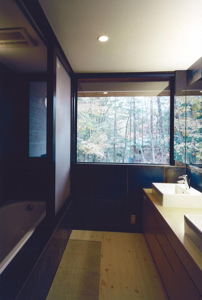 バス/トイレ事例:洗面(軽井沢の家8)