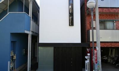 デザイン住宅外観いろいろ (T-3G ガレージのある幅3mの家)