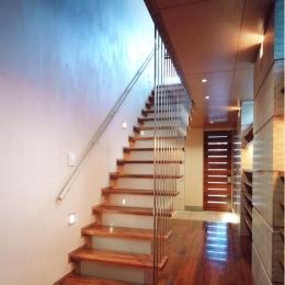 神楽坂の家 (階段)