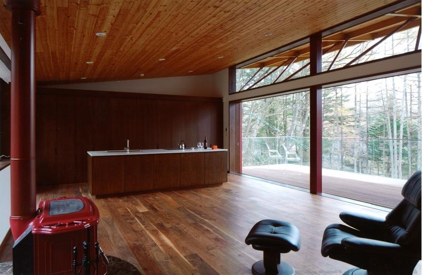 軽井沢の家10の部屋 リビング、ダイニング、テラス