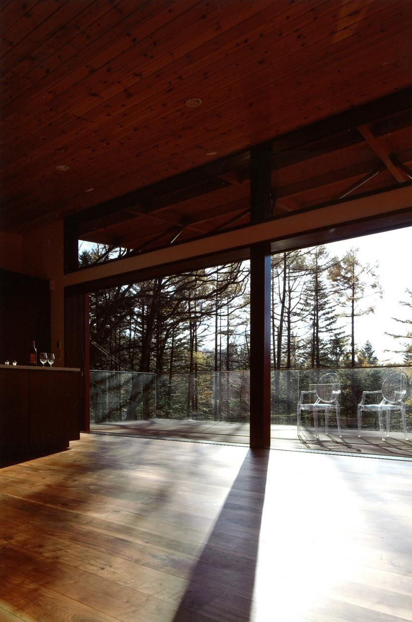 軽井沢の家10の部屋 リビング、テラス