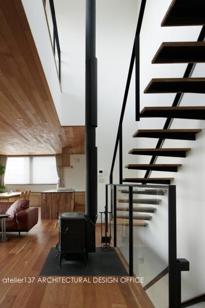 階段吹抜 (027甲府 I さんの家)