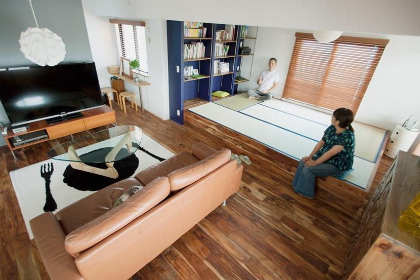 墨田区 Y・O邸~Primary colors~の部屋 リビング4・畳スペース