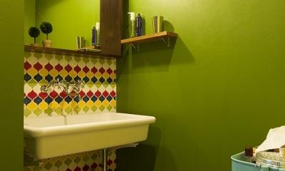 『primary colors』 ― 一番気持ちのいい場所 (洗面室)
